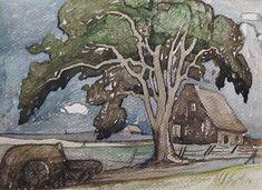 Maison à Ste-Rose (1928) - Marc-Aurèle Fortin Watercolor Landscape, Landscape Paintings, Watercolor Paintings, Abstract Paintings, Canadian Painters, Canadian Artists, Canada Images, National Art, Colors
