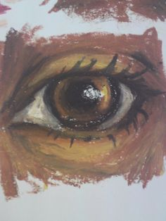 oil pastel artworks | oil pastel eye by ~lb93 on deviantART