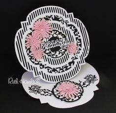 The Twisting Veranda Layering die set from Tonic Studios has 11 dies in the pack, some of which cut out a solid shape and others which cu. Fancy Fold Cards, Folded Cards, Diy Easel, Tonic Cards, Tattered Lace Cards, Card Creator, Step Cards, Diy Cards, Anna Griffin Cards
