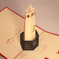 Pop up sliceform on pinterest kirigami pop up cards and for 3d paper lighthouse template