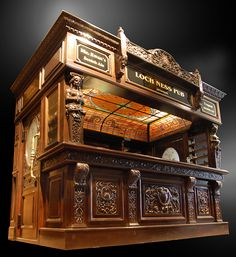 antique bar..this would be so cool to have in my house