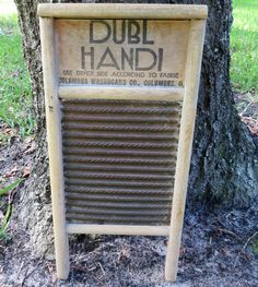 Laundry Room Decor: Vintage Rustic Laundry Washboard