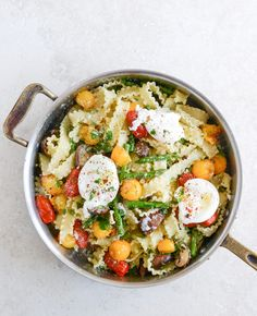 Springtime Pasta with Blistered Tomatoes and Eggs