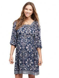 9601706ebf992 Motherhood Maternity Wendy Bellissimo 3/4 Sleeve Banded Bottom Maternity  Dress #pregnancy4me
