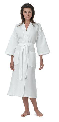 c2e9f42cd9 Pure Linen Turkish Waffle Kimono Style Adult Unisex Bathrobe
