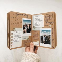 Diy Gifts For Friends Birthday Box 22 Best Ideas Album Journal, Bullet Journal Ideas Pages, Scrapbook Journal, Bullet Journal Inspiration, Travel Scrapbook, Album Du Couple, Album Photo Scrapbooking, Couple Scrapbook, Cute Boyfriend Gifts