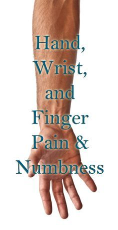 Quick reference of all the places wrist, hand, and finger pain could be coming from - forearm, neck, shoulder, etc.