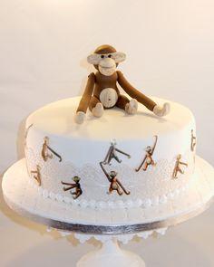 Fondant cake with monkey