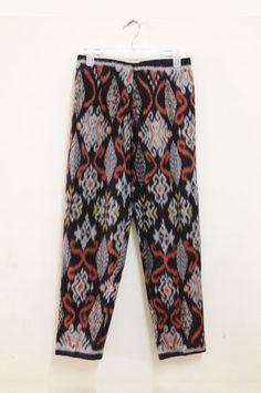 [cottonink-shop.com] black tangerine ikat pants