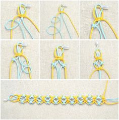 In this simple DIY jewelry tutorial, you will learn how to knit a friendship bracelet with lark knots. This idea is just a simple way to DIY friendship bracelet - DIY Schmuck für den Sommer Bracelet Fil, Bracelet Crafts, Jewelry Crafts, Hemp Jewelry, Diy Jewellery, Jewellery Making, Recycled Jewelry, Macrame Jewelry, Antique Jewellery