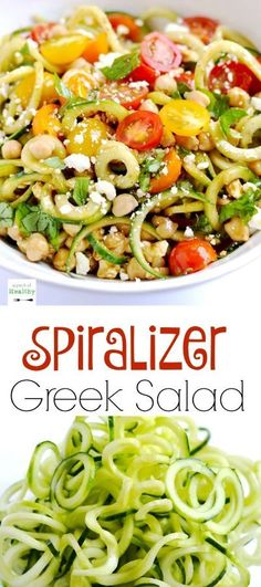 This spiralizer Greek salad is a light and refreshing side dish made with…