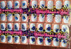 Adesivos para Unhas - Belíssima: Azul a cor do inverno