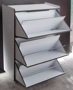 Ideas for shoe racks Folding Furniture, Cool Furniture, Furniture Design, Shoe Cupboard, Shoe Storage Cabinet, Shoe Cabinet Design, Diy Shoe Rack, Shoe Racks, Rack Design