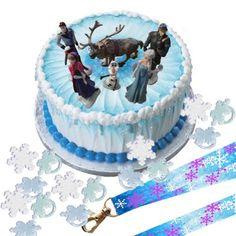 Disney Frozen Cake Decoration Set - Topper Figures & Rings & Birthday Lanyard Frozen http://www.amazon.com/dp/B00IZNXLDM/ref=cm_sw_r_pi_dp_pgt9tb1EMVSWG