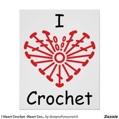 Search our stunning selection of Love Crochet posters from our many talented designers. Better yet, create your own custom poster or artwork masterpiece here on Zazzle! Crochet Diy, Love Crochet, Crochet Motif, Crochet Flower Patterns, Crochet Stitches Patterns, Crochet Flowers, Knitting Quotes, Crochet Tattoo, Craft Quotes