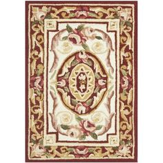 Astoria Grand Weaver Burgundy / Ivory Area Rug Rug Size: Round 5'6""
