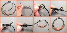 Jewelry Knots, Bracelet Knots, Old Jewelry, Wire Jewelry, Beaded Jewelry, Handmade Jewelry, Beaded Bracelets, Embroidery Bracelets, Knots For Bracelets