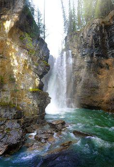 UpperFalls in JohnstonCanyon Banff National Park | by Ron Richey [OC] [3420x5000] http://ift.tt/29h1PVU
