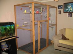 Indoor Glass Aviaryfor Sale http://adorablebudgies.co.uk/forum/index ...