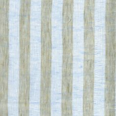 ANICHINI   Linen Stripe Mesh in natural/pale blue - available in decorative accessories, bedding, fabric, and window treatments