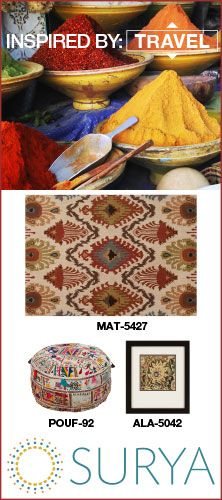 Surya rug and accessory package inspired by travel #inspiredbysurya