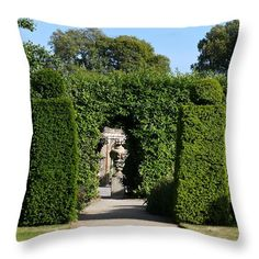 Topiary Statue Throw Pillow by Steve Swindells