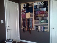 wall mounted tie rack Google Search Master closet Pinterest
