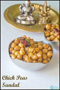Navarathri Sundal Recipes   Chickpeas Sundal (Chole Sundal)