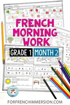 French Bell Work month 2 of Grade 1: this set of French morning work worksheets can help you implement a controlled and meaningful morning routine in your Core French or French Immersion classroom. Works great for kids learning French as a second language. Includes easy writing practice, alphabet work, and more! Easy Writing, Teaching Writing, Writing Practice, Learning Activities, Kids Learning, French Alphabet, Bell Work, Core French, Learning French