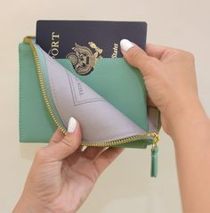 Don't have to worry about losing any documents with the zipper ! #traveltips #passport