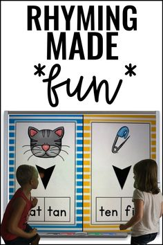Prekindergartners, kindergartners, first, second, and third graders love this Rhyming KNOCKOUT {Rhyming Pictures & Words} resource. This pack includes five exciting rhyming knockout games: Word Match, Picture Match, Picture-Word Match, Words Odd Man Out, and Pictures Odd Man Out. This quick-paced game also builds character by emphasizing teamwork and good sportsmanship for preschoolers, kinders, 1st, 2nd, and 3rd grade students. Students beg to play this fun knockout review. #Rhyming Rhyming Activities, Reading Comprehension Activities, First Grade Activities, Rhyming Pictures, Classroom Games, Kindergarten Reading, School Fun, Language Arts, Teaching Ideas