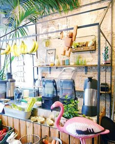 Tropical juicebar at Kek in Delft, Holland