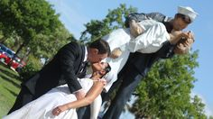 Victory in Europe WWII Statue in Sarasota http://celebrationsoftampabay.com/wedding-photographers-sarasota/