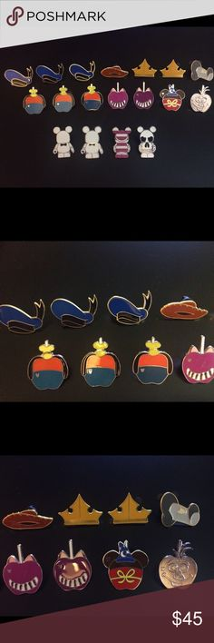 Disney Pin Lot #15 Disney Trading Pin Lot #15🎉😊pins were either purchased or traded at parks (these are used so may have minor flaws but had no issues trading at the parks); willing to sell in full or separate for ones you want in any of the numbered pin lots I have; let me know if you have any questions about the pins😊for this lot there are currently 18 pins...check back as I go to the parks frequently & will add/take away lots/pins often Disney Other