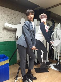 Which one is the manakin which one is Hobi?