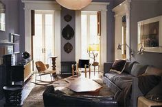 Julianne Moore's townhouse in NYC. A great example of mixing more traditional architecture with modern design.