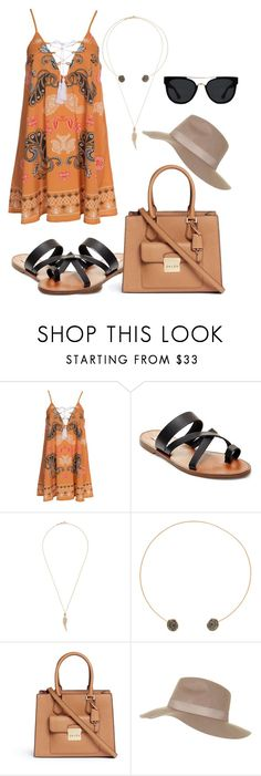 """""""Summer day trip to the city"""" by paigeromano ❤ liked on Polyvore featuring Kiss The Sky, Steve Madden, Stephen Webster, Dezso by Sara Beltrán, Michael Kors, Topshop and Quay"""