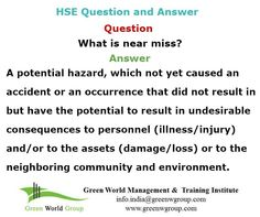 HSE officer question and answer. http://greenworldsaudi.com/dammam/  http://greenworldsaudi.com/riyadh/