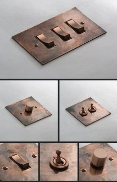 Distressed Copper Light Switches