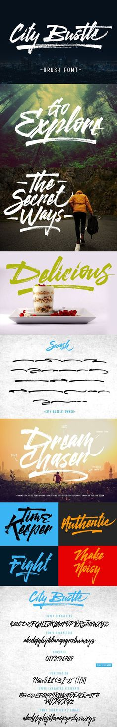 City Bustle brush font. Display Fonts