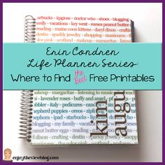 Erin Condren Life Planner Series: Where to Find THE BEST Free Printables for your planner!! #lifeplanner #freebies #printables