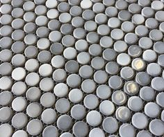 $8.95 a Square Foot and Free Shipping. Shades of Gray Porcelain Penny round mosaic Tile.