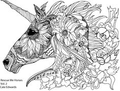 custom pet portrait coloring book style by
