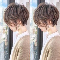 Pin on ヘアスタイル Messy Bob Hairstyles, Short Curly Haircuts, Curly Hair Cuts, Short Hair Cuts, Curly Hair Styles, Asian Short Hair, Asian Hair, Shot Hair Styles, Short Hair With Layers