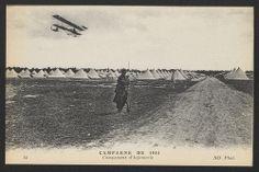 Campagne de 1914. Campement d'infanterie. Carte photographique. Coll. BDIC