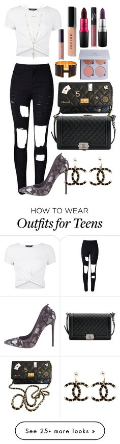 """""""Geen titel #91"""" by flawlessputtta on Polyvore featuring WithChic, New Look, Gianvito Rossi, Chanel, Hermès, House of Harlow 1960, Bobbi Brown Cosmetics, tarte, MAC Cosmetics and NARS Cosmetics"""