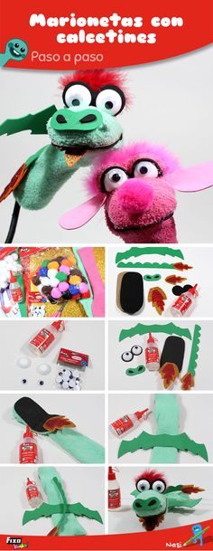 Sock Puppets, Hand Puppets, Diy And Crafts, Crafts For Kids, Puppets For Kids, Puppet Crafts, Stuffed Toys Patterns, Rapunzel, Leo