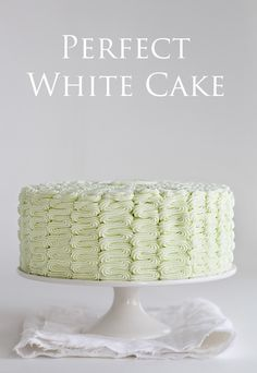 The Perfect Homemade White Cake!