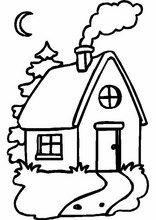 Print tekeningen voor kinderen Huizen