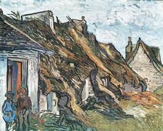 Old Cottages, Chaponval Vincent van Gogh (1890)